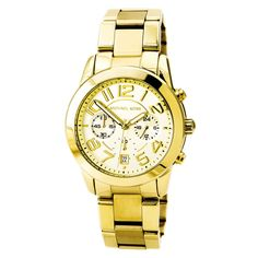 Michael Kors MK5726 Women's Mercer Chronograph Mid-Size Gold Tone Steel Watch