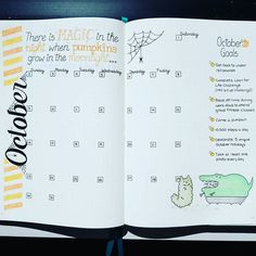 "774 curtidas, 10 comentários - A Hayden (@craftyenginerd) no Instagram: ""October monthly is completed! #bujocommunity #bulletjournaljunkie #bulletjournaljunkies…"""