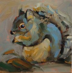 """Oh, da Baby! Oil on cradled panel. 6 x 6"""". Sold"""