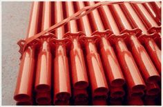 The scaffolding couplers are the fittings for fixing and stabilizing the steel tracks on the flex track, keeping the steel track from moving to the flex tracks neither vertically nor horizontally.