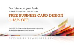 Start the new year fresh - Get 15% Off on all Ready Made Logos. Buy ready made logo online directly from our logos catalog enjoy 15% discount + FREE business card