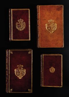 Books owned by Marie Antoinette. They were sold on an auction which seems so sad to me that her things are being sold as common goods