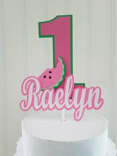 Pink watermelon Cake Topper One in a melon Cake watermelon Birthday Wishes Girl, Nice Birthday Messages, Birthday Wishes For Boyfriend, Birthday Gifts For Kids, 1st Birthday Girls, First Birthday Parties, First Birthdays, Baby Shower Watermelon, Watermelon Birthday