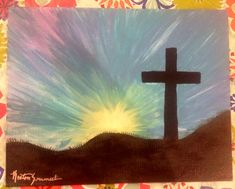 Cross canvas paintings - DIY Abstract Heart Painting and a Fun Paint Party – Cross canvas paintings Christian Canvas Paintings, Cross Canvas Paintings, Christmas Paintings On Canvas, Painted Cross Canvas, Holiday Canvas, Christmas Canvas, Christmas Ornament, Easy Canvas Art, Easy Canvas Painting