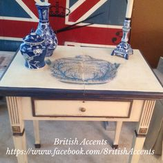 Hand painted sewing machine table https://www.facebook.com/8ritishAccents