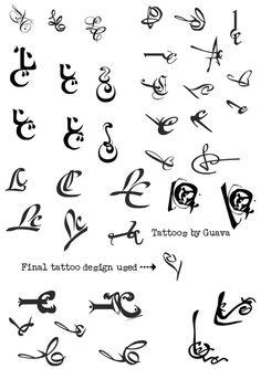 LETRAS ARABES PARA TATUAJES mini tatoos by Brbara Anah