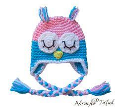 Tuque hibou crochet / Crochet Owl Hat