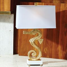"Seahorse 28.75"" H Table Lamp with Rectangular Shade"