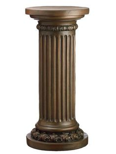 I've been looking for a new pedastal. I think this will work. House Plants Decor, Plant Decor, Colonial House Exteriors, Christmas Chandelier, Wood Furniture Legs, Pillar Design, Wood Bedroom Sets, Vertical Garden Design, Column Design