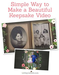 One of the BEST Mother's Day Keepsake Gift Ideas! Tips for how to make a beautiful video with photos and video. It's simple and easy with Animoto. ~ Such a great DIY gift for Mom, Grandma or friends! LivingLocurto.com #animotokeepsake spon