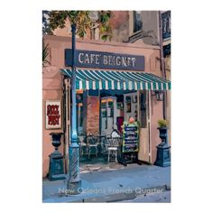 French Quarter Cafe, Jazz Fest Poster, add text