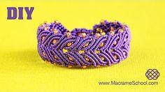 macrame bracelet tutorial - YouTube