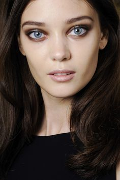 10 / 95 Roberto CavalliSmoky eyes were the key beauty focus at Roberto Cavalli, with Pat McGrath using brown, grey and silver shades to offset the perfected skin.
