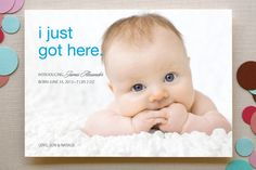 First to Arrive Birth Announcements by Christiana Hudson at minted.com