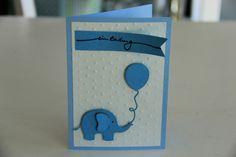 Einladungskarten - Einladungskarte Elefant - ein Designerstück von hand-art-beit bei DaWanda