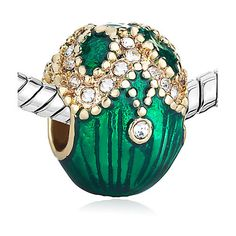 Pugster Gold Plated Green Faberge Egg with by DelightfulDaisyness, $8.99