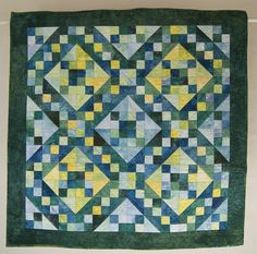 Baby Boy Quilt or Quilted Wall Hanging Jacob's Ladder in