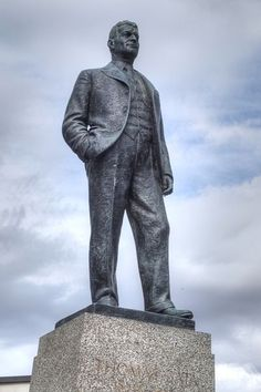 Statue of Tomas Baťa by Hermon Cawthra