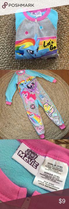 NWOT My Little Pony One Piece Pajama NWOT one piece Fleece sleeper.                                       Girls Size 7/8 Pajamas Pajama Sets