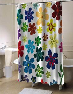 flower shower curtain #showercurtain #showercurtains #curtains #bath #bathroom #homeandliving