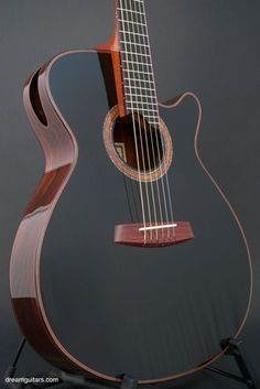 2007 Charles Fox Guitars Ergo SJ-14 Noir psychoactivelectricity.tumblr.com