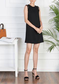 ĐÀM XÒE CHÂN CHỮ A - D02-0070 Black, Dresses, Fashion, Vestidos, Moda, Black People, Fashion Styles, Dress, Fashion Illustrations