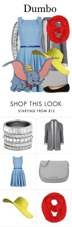 """Dumbo"" by megan-vanwinkle ❤ liked on Polyvore featuring Henri Bendel, Topshop, Michael Kors and Disney"