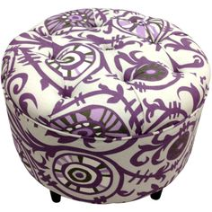 Leonie Ottoman Something like this would be perfect with a big, soft, black chair for my bedroom.
