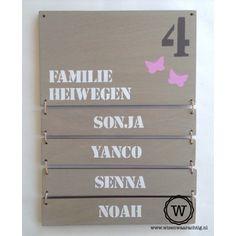 naambord voordeur hout extra naambordjes |gratis verzenden