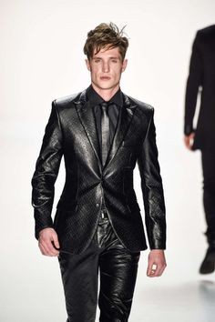 LeatherBlazerMen Suit Fetish In Full Leather