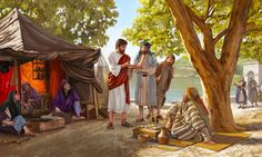 Jesus preaches to others about the good news of God's Kingdom. Preaching the good news of God's Kingdom was foremost in Jesus' mind Race For Life, Abraham And Sarah, Colossians 3, Biblical Art, What If Questions, Jehovah's Witnesses, Online Library, Jesus Christ, Christianity