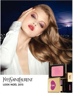 Lindsey Wixson Stars in YSL Holiday 2013 Cosmetics Collection
