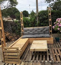 The table is also created with the repurposed wood pallets and it is giving a neat look, the person can color the pallets and it is up to his/her liking. The pallets are inexpensive due to which this plan is not costly and the person needs to manage time for it's creation because it is a big plan.
