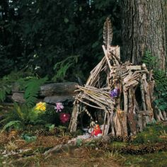 Fairy home...woodland play with all those goodies we find on our nature walks.
