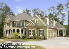 Plan 70009CW: Front And Side Porches a Plus Deck