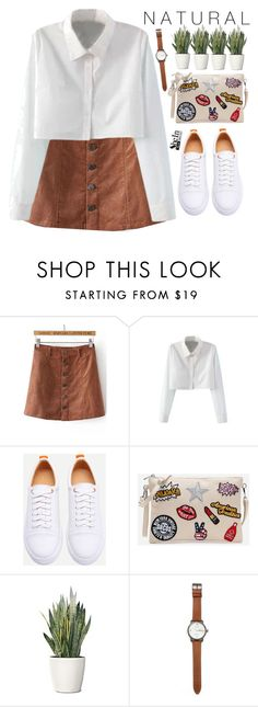 """""""NATURAL"""" by m-zineta ❤ liked on Polyvore featuring WithChic, PLANT and Jack Spade"""