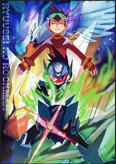 Megaman starforce  Fan art Video game^^