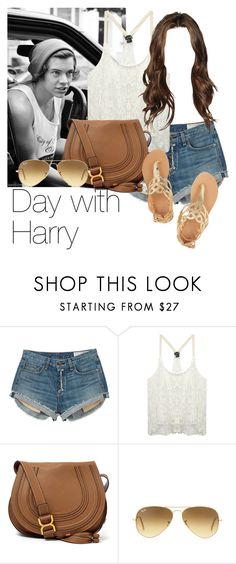 """REQUESTED: Day with Harry"" by style-with-one-direction ❤ liked on Polyvore featuring rag & bone, Wet Seal, Chloé, Ray-Ban, Ancient Greek Sandals, OneDirection, harrystyles, 1d and harry styles one direction 1d"