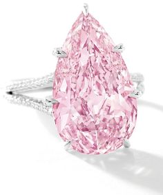 Amazing 8.41-carat Internally Flawless Fancy Vivid Purple-Pink Diamond sold for $17.8 million
