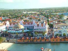 Oranjestad, Aruba --Everything is sooo colorful Vacation Places, Best Vacations, Vacation Spots, Places To Travel, Places To Go, Beautiful Places In The World, Wonderful Places, Aruba Honeymoon, Oranjestad Aruba