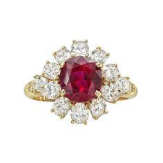 Van Cleef & Arpels Ruby & Diamond Cluster Ring