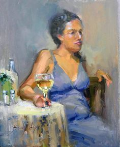 a-glass-of-wine portrait in oil http://www.beckyjoy.com/