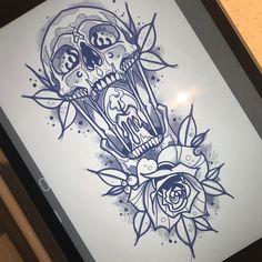 Tattoo Test, Fire Tattoo, Tattoo Old School, Skull Tattoos, Body Tattoos, Sleeve Tattoos, Asian Tattoos, Black Tattoos, Badass Tattoos