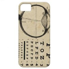 Vintage Ophthalmologist Eye Chart iPhone 5 Covers