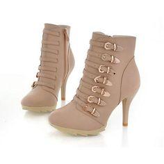 women Repair legs wild metal buckle zipper knight boots 2013 fashion... via Polyvore