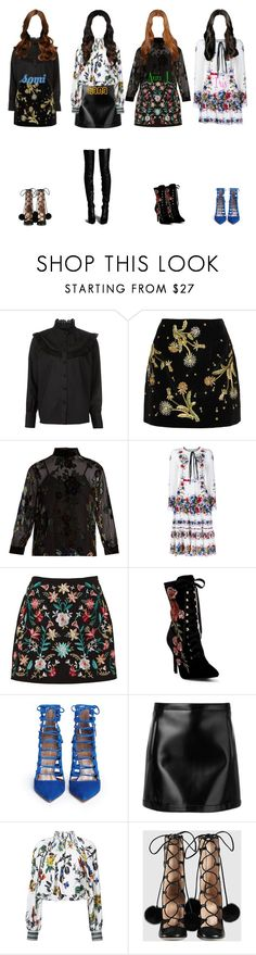 """F-VE Dolls - BAAZAR Charity Launch Event"" by mikki102 ❤ liked on Polyvore featuring CO, Topshop Unique, MASSCOB, Erdem, Cape Robbin, Aquazzura, Philosophy di Lorenzo Serafini, TIBI and Gucci"