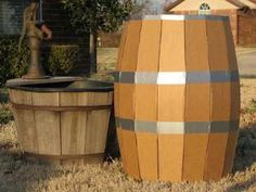 cardboard wood barrel - Google Search