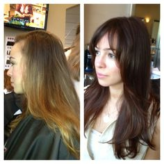 Before and After Chocolate Brown