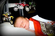 Moto newborn picture dirt bikes motocross baby