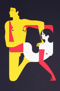 Kama Sutra minimal ilustrations by Malika Favre